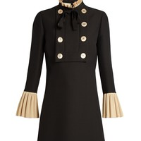 Ruffle-trimmed wool and silk-blend mini dress | Gucci | MATCHESFASHION.COM US