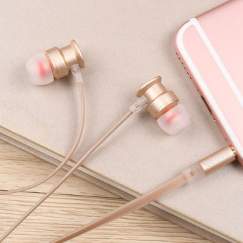 Music Headphones Metal Earphone Phone