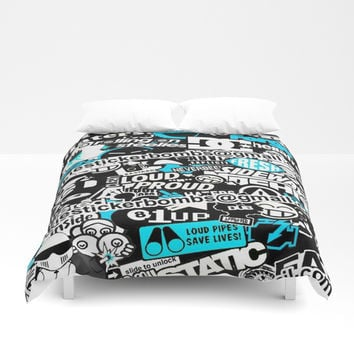 Sticker Bomb Funny Duvet Cover by Wiguna