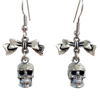 """Pretty Little Evil"" Earrings by Guilty Jean (Silver)"