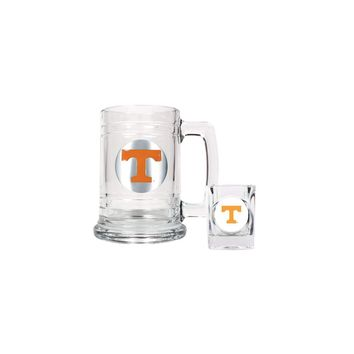 University of Tennessee Shot Glass and Mug Set - Etching Personalized Gift Item