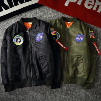 Tide brand pilot jacket baseball clothing men and women air force couple coat tide Black