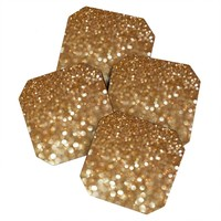 Lisa Argyropoulos Holiday Gold Coaster Set