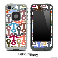 Anchor Collage Pattern Skin for the iPhone 5 or 4/4s LifeProof Case
