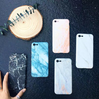 Customized Marble iPhone 7 7Plus & iPhone se 5s 6 6 Plus Case Best Protection Cover +Gift Box-129