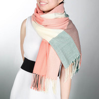 Scarf Long  Casual Warm Cashmere Shawl Plaid Scarf Knitted Scarf   Scarves