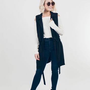 City Sleek Sleeveless Trench