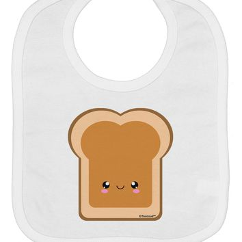 Cute Matching Design - PB and J - Peanut Butter Baby Bib by TooLoud