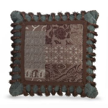 Croscill Galleria Brown Fashion Throw Pillow | Overstock.com Shopping - The Best Deals on Throw Pillows