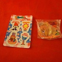 PJ Berri Parappa the Rapper Pin & Sticker Sheet Playstation Promo
