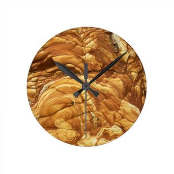 New Zealand Volcanic Rock Round Clock