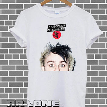 Band Shirt - Michael Clifford Shirt 5 Second Of Summer T-shirt Printed White Color Unisex Size - AR23