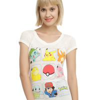 Pokemon Starters Boxes Girls T-Shirt
