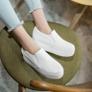 Women Slip-on Flats Platforms Loafers Shoes 2322