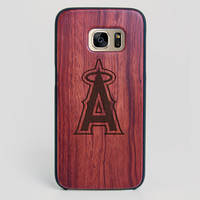 Los Angeles Angels Galaxy S7 Edge Case - All Wood Everything