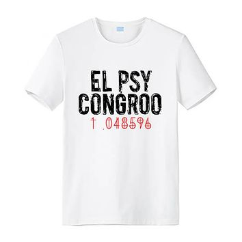 Anime T-shirt graphics Anime Steins Gate EL PSY CONGROO Cosplay Makise Kurisu T shirt Summer Cotton Short Sleeve T-shirt Top Tees AT_56_4