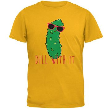 Vegetable Pickle Dill Deal With It Mens T Shirt