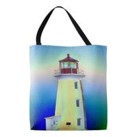 Peggy's Cove Lighthouse Route Nova Scotia bag Tote Bag