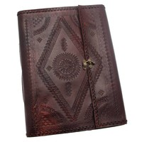 Indra XL Embossed Stitch Leather Photo Album