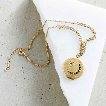 Traveling Layer Locket Necklace- Gold One