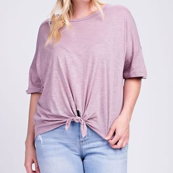 Lilac Love Knot Top | Plus