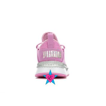 Bling Shoes for Girls | Pink Puma Pacer Cage Metallic JR  | 4-7