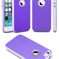 iPhone 5S Case, Case Ace(TM) iPhone 5s Case, Slim Rubber Soft Silicone Gel Skin TPU Bumper Case for iPhone 5/5S (Purple)