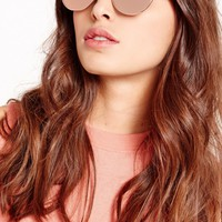 Missguided - Mirrored Cat Eye Sunglasses Rose Gold