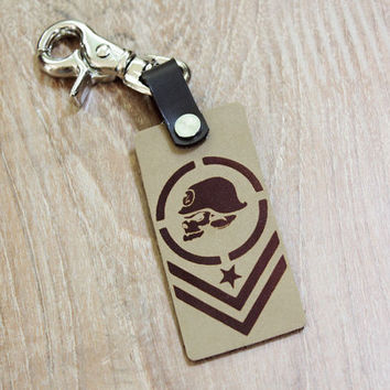 key fob ,Leather keychain ,leather key fob, for hanging keys     (MC-97)
