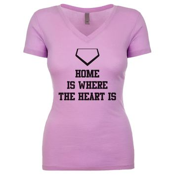 Home Is Where The Heart Is Women's V Neck