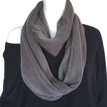 Signature Soft Infinity Scarf In Charcoal Grey