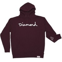 DIAMOND SUPPLY HOLIDAY 2011 OG SCIPT HOODIE IN BURGUNDY (HOGSH-BURGUNDY)