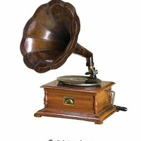 Buy Working Gramophone With Brass Horn, Antique Brass Wood Gramophone At Wildorchidquilts.Net