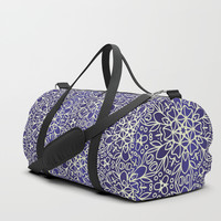 Midnight Flowers Duffle Bag by Tanyadraws