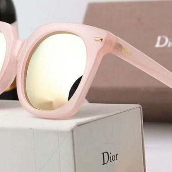 DIOR Trending Ladies Men Simple Logo Letter Summer Sun Shades Eyeglasses Glasses Sunglasses Pink Pink Framework I-A-SDYJ