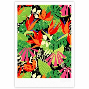 "Jacqueline Milton ""Tropicana - Hot"" Orange Green Fine Art Gallery Print"