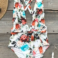 Cupshe Rose Only Print One-piece Swimsuit