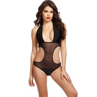 Black Hourglass Cut One Piece Swimsuit @ Cicihot One-piece swimsuits Online Store,one-piece swimsuits,tank suit,leotard,simply one-piece,monokini,sheer bikini,thong swimsuit,sling bikini