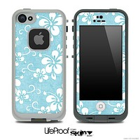 Vintage Hawaiian Floral Blue Skin for the iPhone 5 or 4/4s LifeProof Case