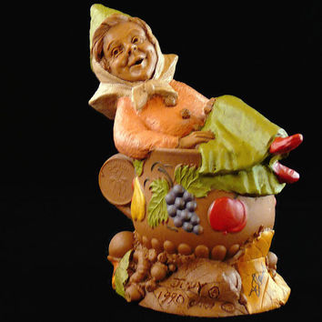 """Vintage, Tom Clark, Retired """"Judy"""", Handcrafted, Gnome Figurine, Hand Signed, With COA, By Cairns Studio"""