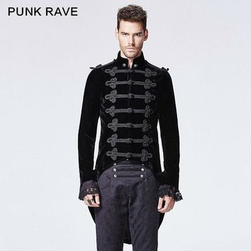 Men's Victoria Gothic Steampunk Coat with Swallow Tail