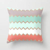AVALON CORAL Throw Pillow by Monika Strigel