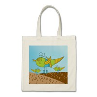 Apple Green Yellow Paradise Birds Budget Tote
