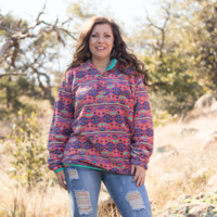 Coral Tribal Southern Marsh Pullover