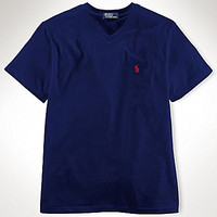 Ralph Lauren Childrenswear 8-20 V-Neck Tee - Polo Black