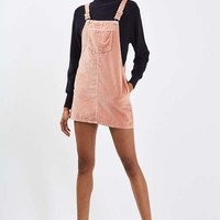 PETITE Velvet Pinafore Dress - Dresses - Clothing