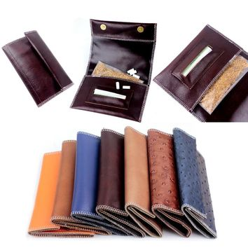 FIREDOG Genuine Leather Hookah Cigarette Rolling Pipe Tobacco Pouch Case Wallet Tip Paper Holder Slot