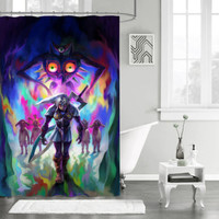 "New Design The Legend of Zelda Majora Mask Custom Shower Curtain 66"" x 72"""