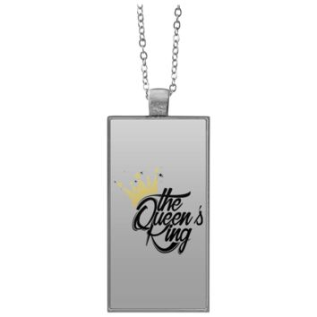 The Queen's King Kool Customs Rectangle Necklace