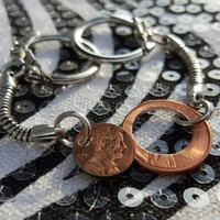 Penny Keychain Friendship Set Together We Make Cents, Lucky Penny, Two Sisters Brothers, Mother Daughter, Husband Wife, Boyfriend Girlfriend